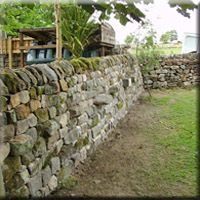 A garden boundary wall in Kettlesing.